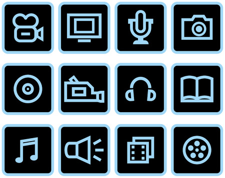 Media - Vector Icons Set Stock Vector - 4971725