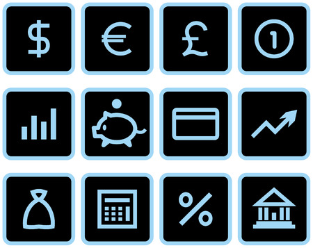 Vector Finance, Banking Icon Set Stock Vector - 4971712