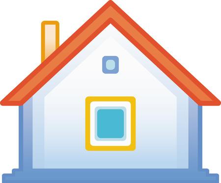 Small house vector icon Vector