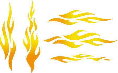 Vector flames Stock Illustratie