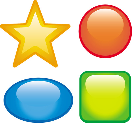 Glossy vector web buttons Vector