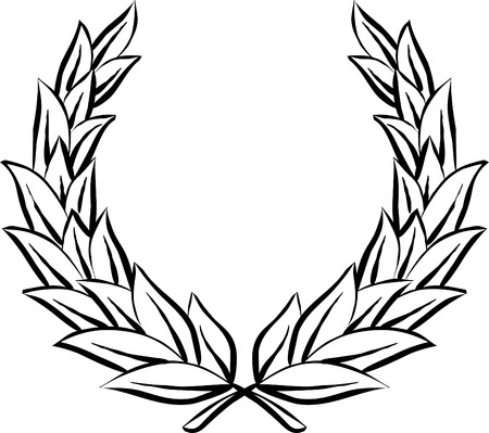 wreath: Laurel wreath (Vector)