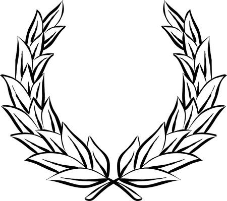 wreath vector: Laurel wreath (Vector)