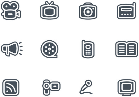 Media - Vector Icons Set  Stock Vector - 4971756