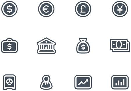 Vector Finance, Banking Icon Set Stock Vector - 4971709