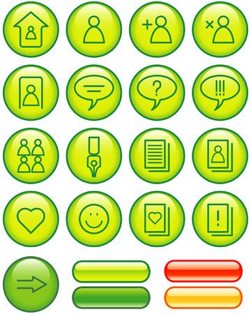 Website Icons Set (Vector) Stock Vector - 4984715