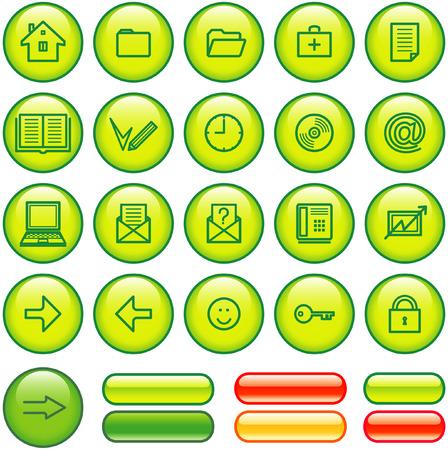 Web Icons Set (Vector) Stock Vector - 4984771