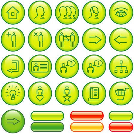 Commercial Website Icon Set (Vector) Vector