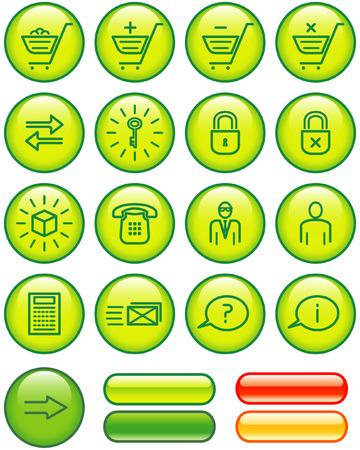 E-Commerce Icon Set (Vector) Vector