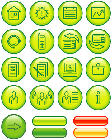 Web Icons Set (Vector) Stock Vector - 4984745