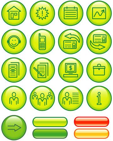 Web Icons Set (Vector) Stock Vector - 4984745