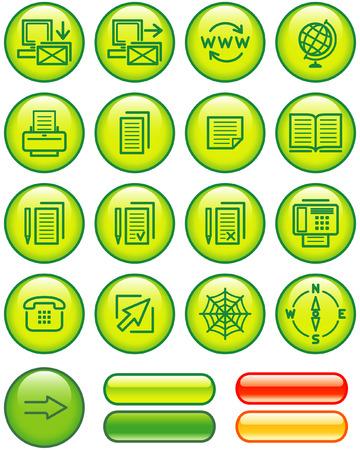 Web Icons Set (Vector) Stock Vector - 4984761