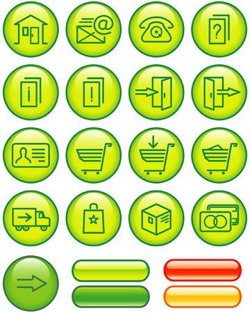 E-Commerce Icons Set (Vector) Stock Vector - 4984740