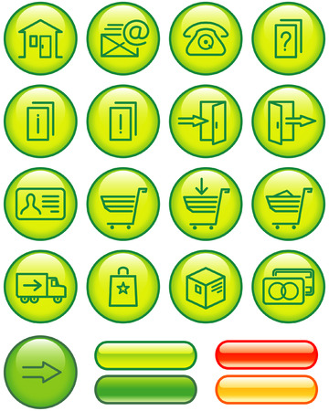 ecommerce icons: E-Commerce Icons Set (Vector)