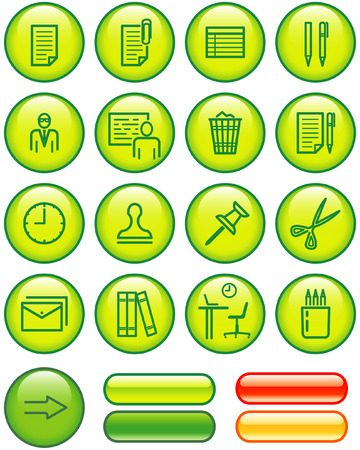 Web Icons Set � Office (Vector) Vector