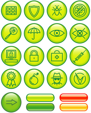 Web Icons Set � Safety (Vector) Vector