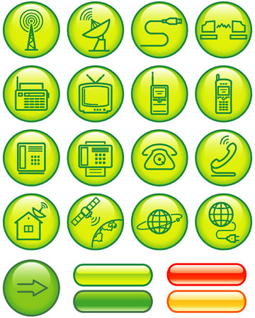 Media and communication icon set (Vector) Stock Vector - 4984775