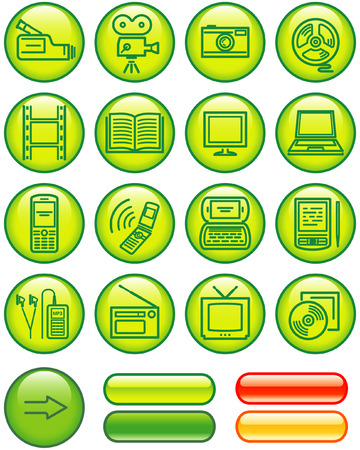 Media - Vector Icons Set Stock Vector - 4984776