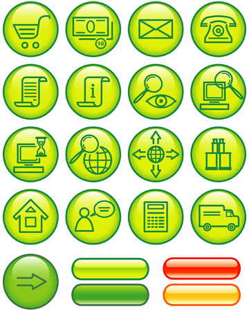 E-Commerce Icon Set (Vector) Stock Vector - 4984766