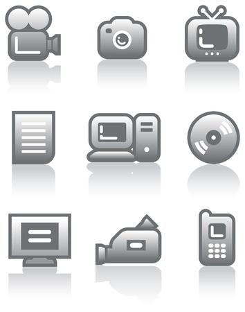 Media - Vector Icons Set  Stock Vector - 5015800