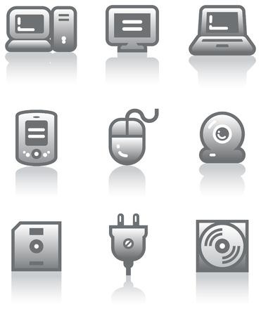 Web icons set � Hardware (Vector) Vector