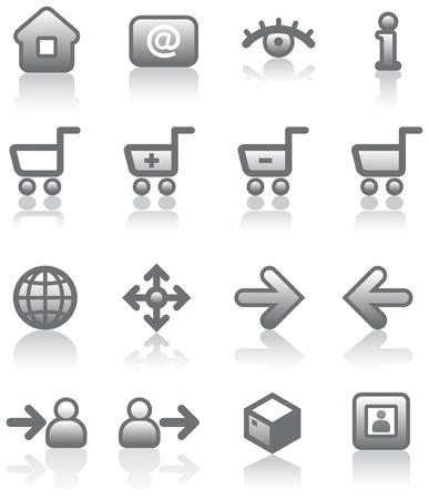 Vector E-Commerce Icon Set Stock Vector - 5015809