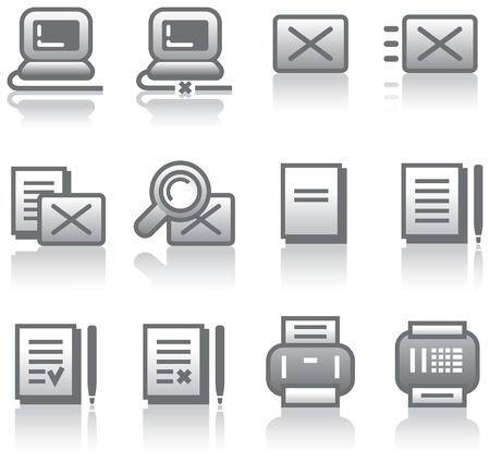 Web icons set (Vector) Illustration