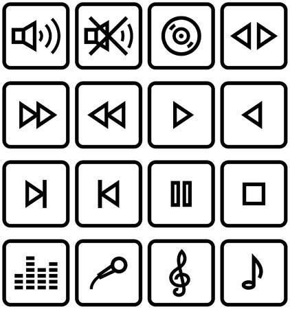 Vector Icons Set - Sound Stock Vector - 5024163