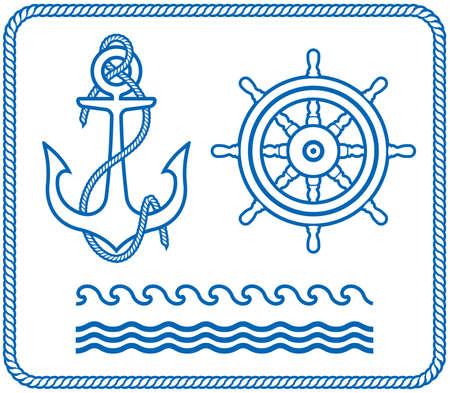 timone: Di ancoraggio e di Helm. Nautica disegni