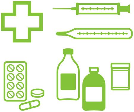 Medical Items – Vector illustration Vector