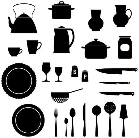 ustensiles de cuisine: Articles de cuisine Vector illustration