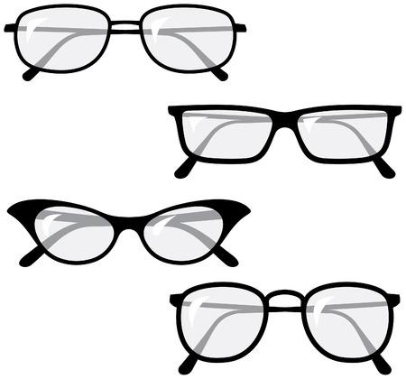 glas kunst: Brillen Vector illustraties