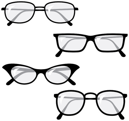 optical glass: Eyeglasses � Vector illustrations