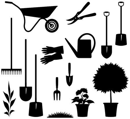 hand cart: Jardiner�a Ilustraci�n Vector Vectores