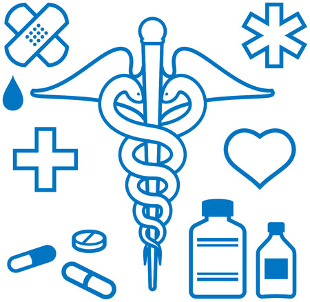 Medical and pharmaceutical items Vector