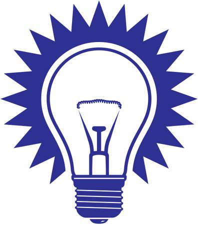 shining light: Icono de vector de la bombilla de luz aislado sobre fondo blanco Vectores