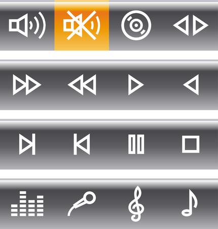 sonic:  Icons Set - Sound Illustration