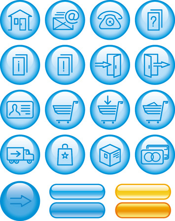E-Commerce Icons Set  Stock Vector - 7139141