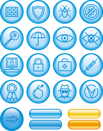 Web Icons Set %uFFFD Safety  Vector