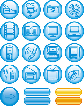 Media -  Icons Set  Stock Vector - 7139205