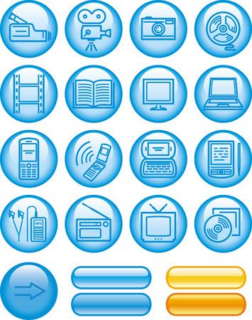Media -  Icons Set  Vector