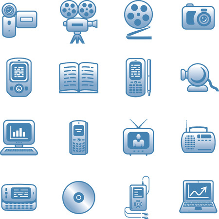 Media -  Icons Set Stock Vector - 7139221
