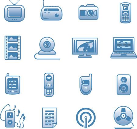 Media -  Icon Set  Stock Vector - 7139223