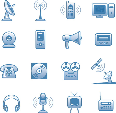 pager: Media -Icons Set  Illustration