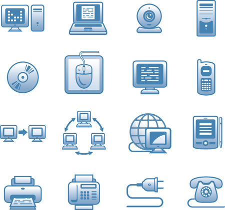 E-communications  icon set Illustration