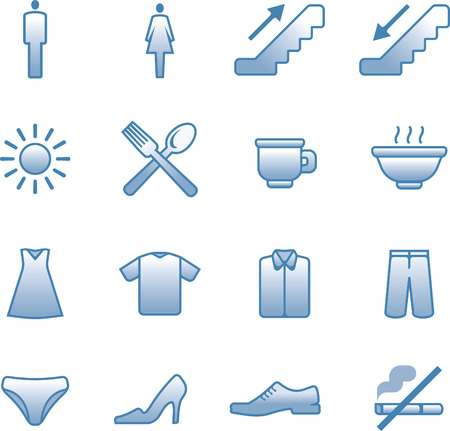 mall signs:  useful Icons Set