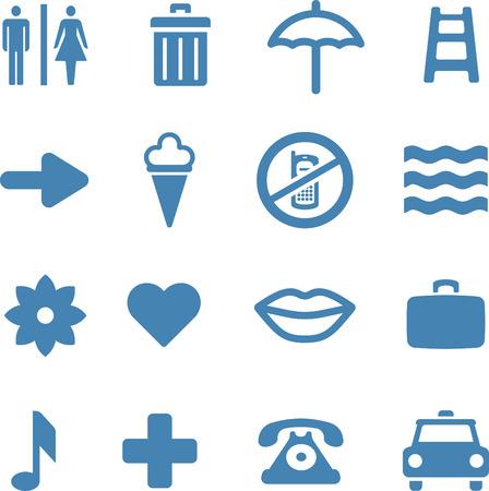 basura: �til Conjunto de iconos  Vectores