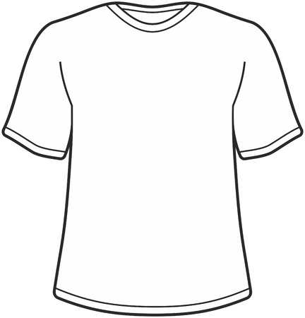 tee shirt: Mens t-shirt illustration isolated on white