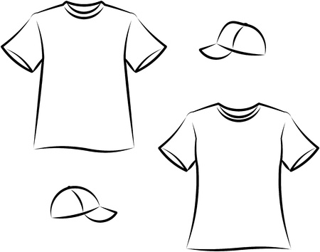 garments: Apparel for men and women. Vector illustration