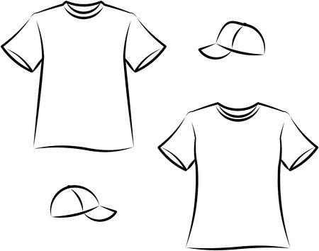 ropa deportiva: Prendas de vestir para hombres y mujeres. Ilustraci�n vectorial